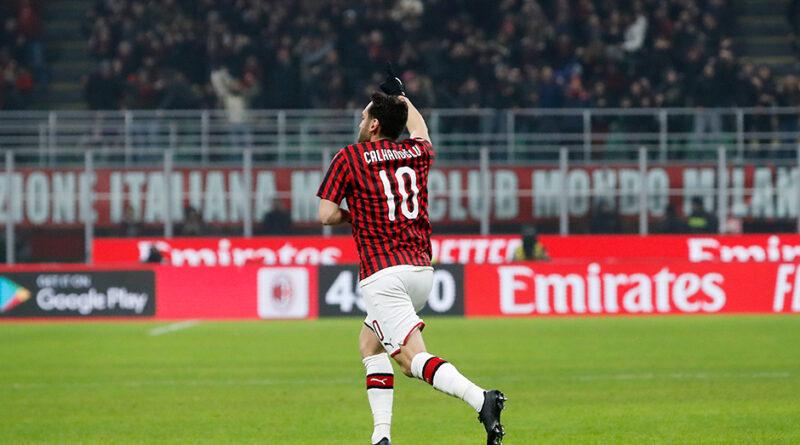 Hakan Calhanoglu tog Milan vidare i italienska cupen